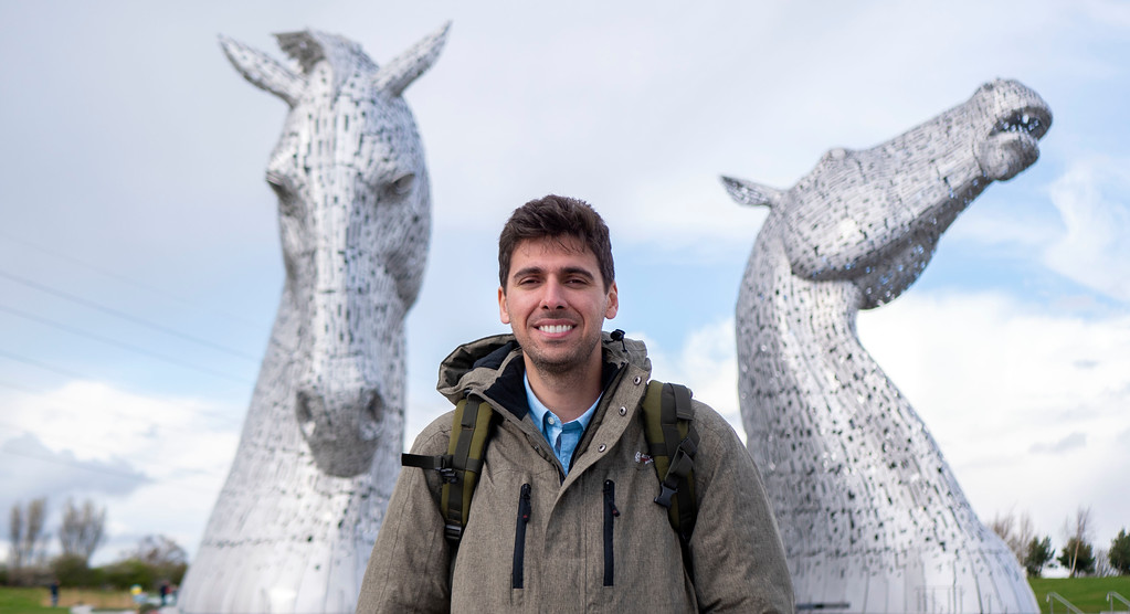 Visiting the Kelpies and Helix Park