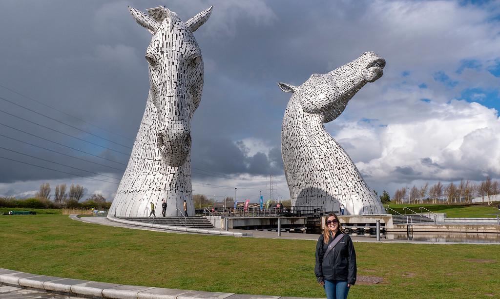The Kelpies sculptures in Scotland