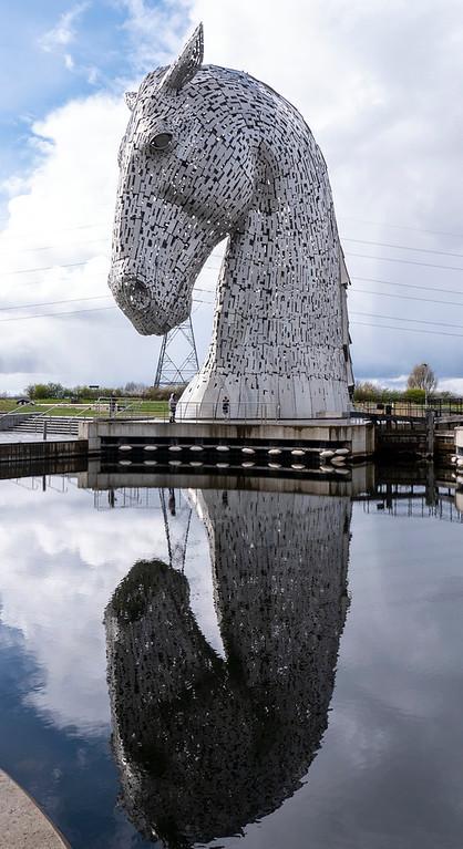 The Kelpies statues - public art in Scotland