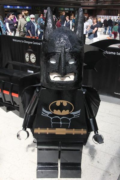 Giant Lego Batman Glasgow Central 25 July 2015