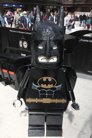Giant Lego Batman Glasgow Central 25 July 2015