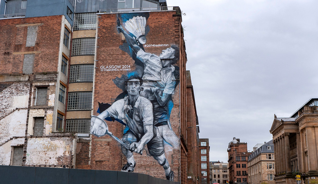 Glasgow Murals: Badminton