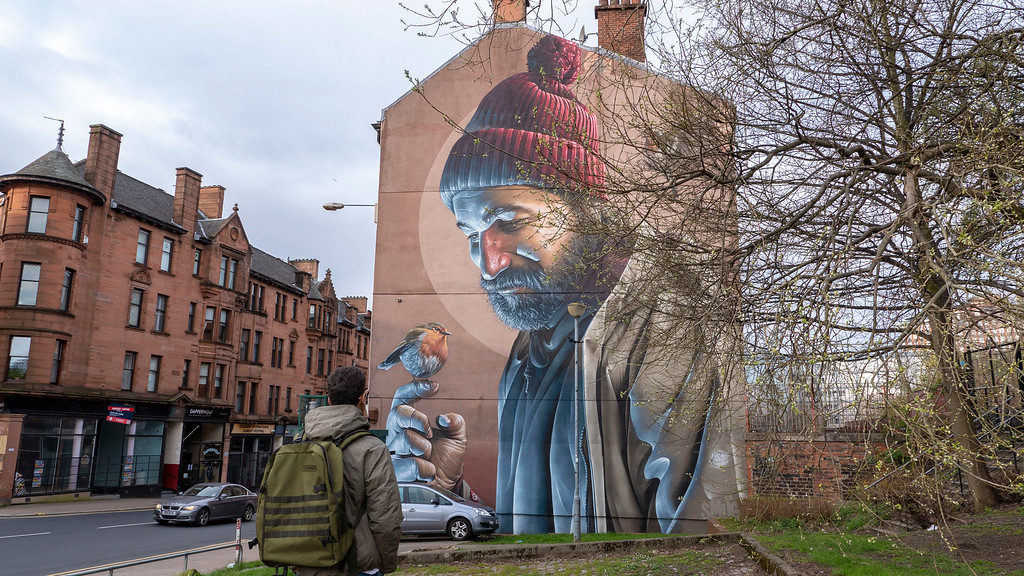 One Day in Glasgow Itinerary: Mural Trail - Saint Mungo Mural