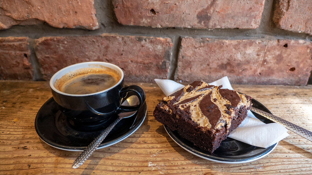 Glasgow Points of Interest: Riverhill Coffee Bar - Vegan Brownie