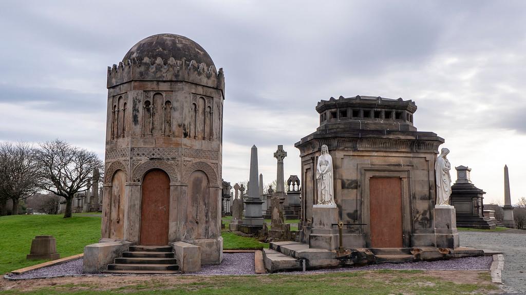 Glasgow Points of Interest: Glasgow Necropolis cemetary