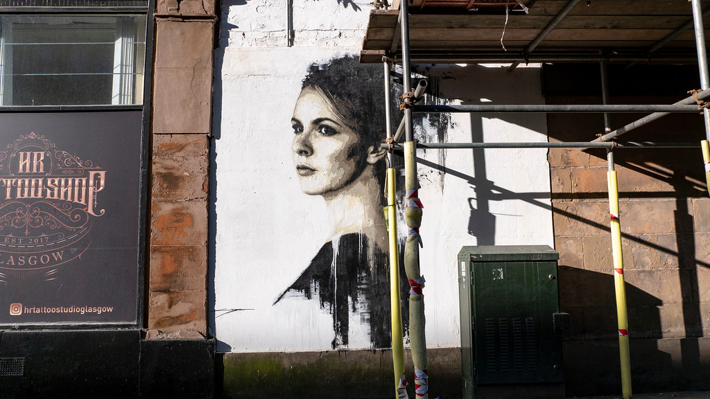 Glasgow Murals: Study of a Woman in Black