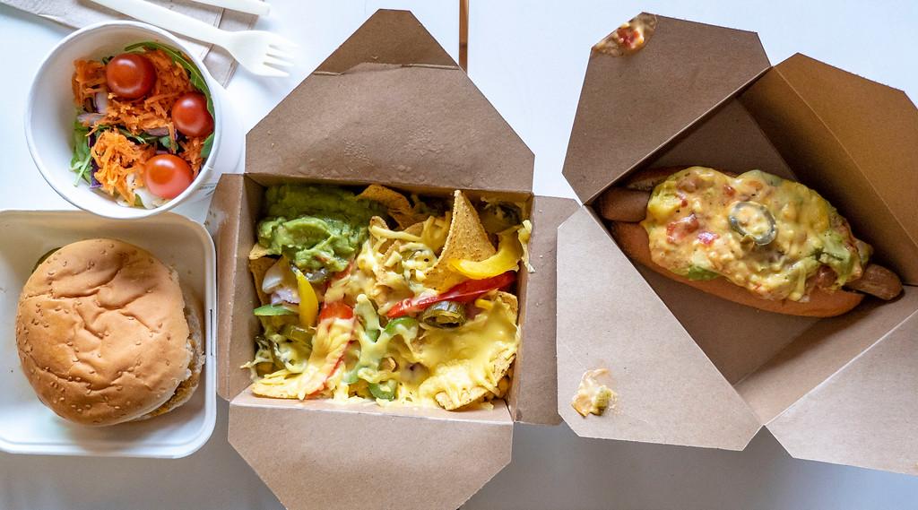 The Glasvegan vegan meals Glasgow - Nachos, Hotdogs, Burgers