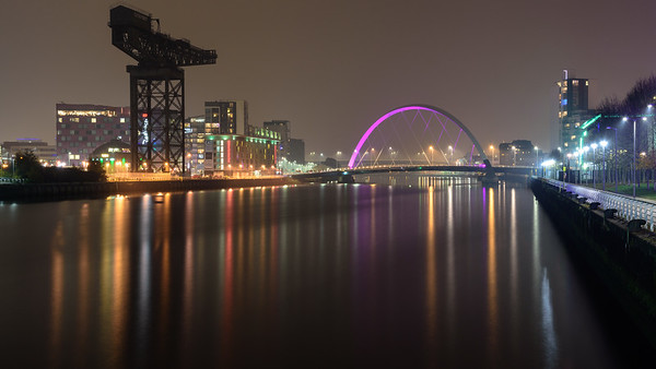 Finnieston Crane and the River Clyde