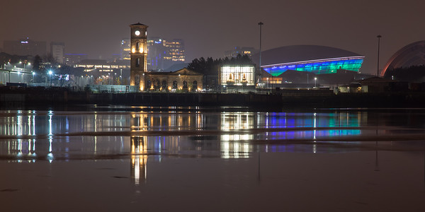 Pump House on the River Clyde
