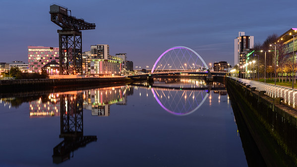 Clyde Arc bridge in Glasgow