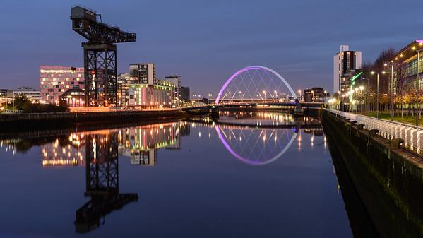Clyde Arc bridge in Glasgow