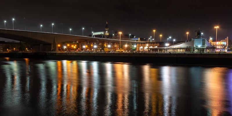 Kingston Bridge in Glasgow
