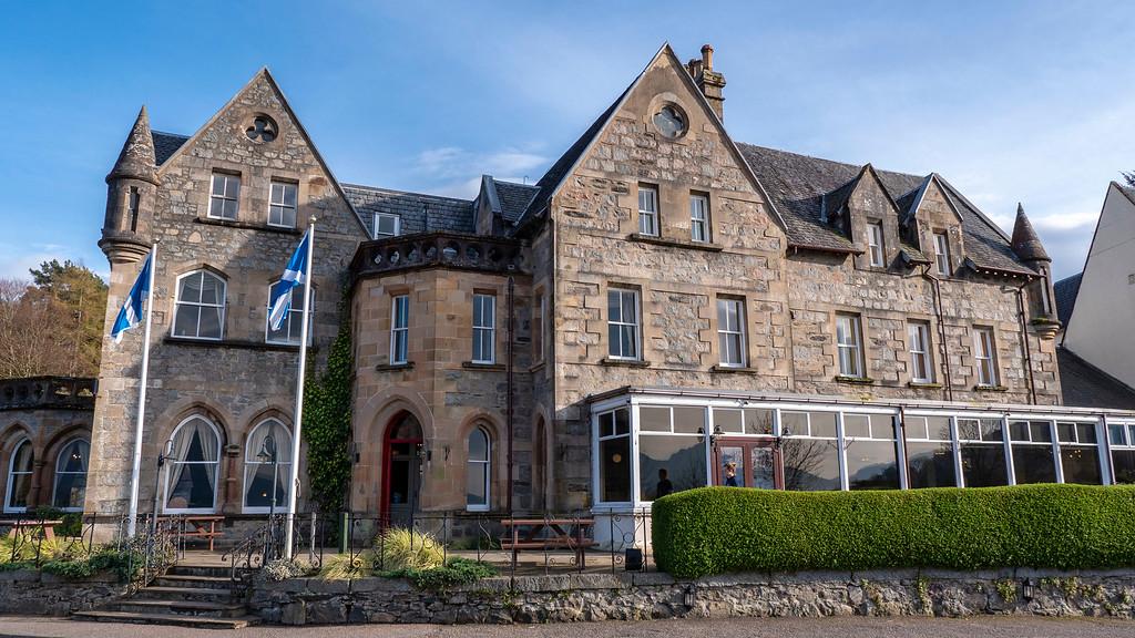 Ballachulish Hotel in Glencoe Scotland - Exterior of this hotel in Scotland