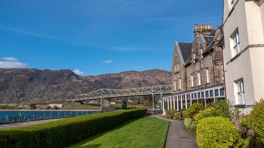 Ballachulish Hotel in Glencoe Scotland - Property and Ballachulish Bridge