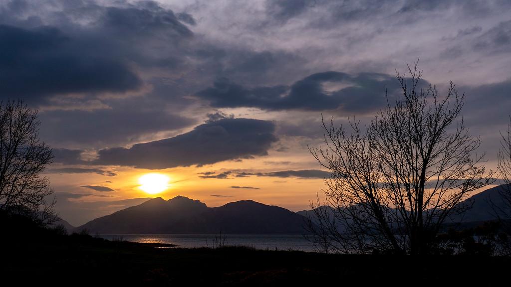 Ballachulish Hotel - The sunset from the hotel in Glencoe Scotland