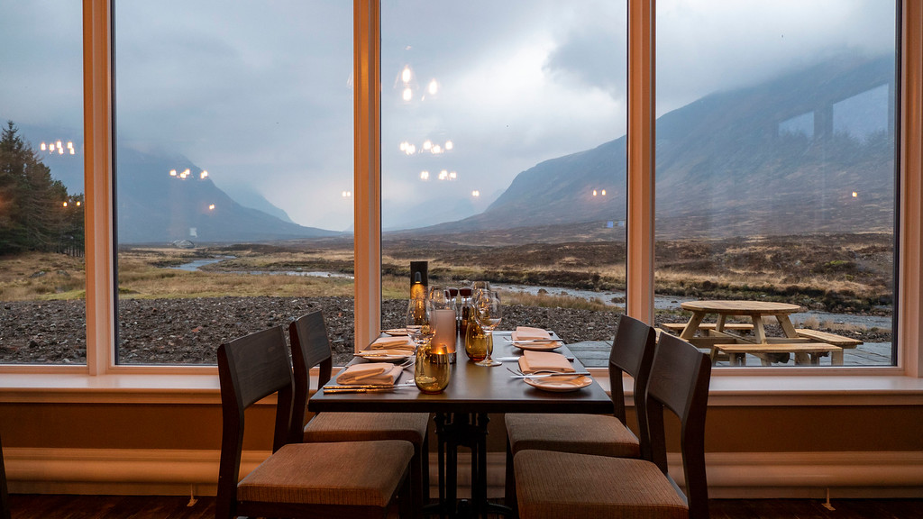 The Kingshouse Hotel in Glencoe Scotland - The Restaurant
