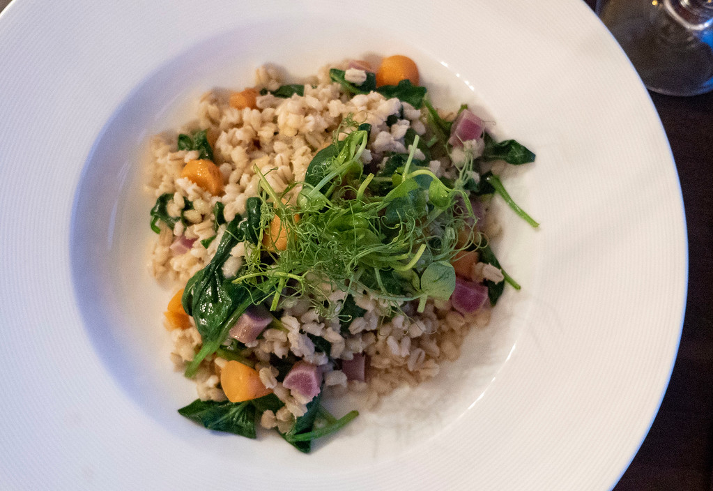 Vegan meal at the restaurant - The Kingshouse Hotel in Glencoe Scotland