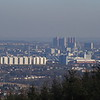 Glasgow and Glasgow City Centre as seen from Gleniffer Braes behind Paisley