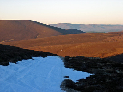 The rolling hills of the Grampians looking towards Carn Dearg Mor