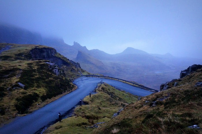 The Isle of Skye, also nicknamed the Isle of Mist - you can see why.