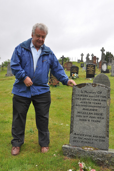 Ian at the grave, near Spean Bridge, of Aunt Marjorie & Uncle Laurens
