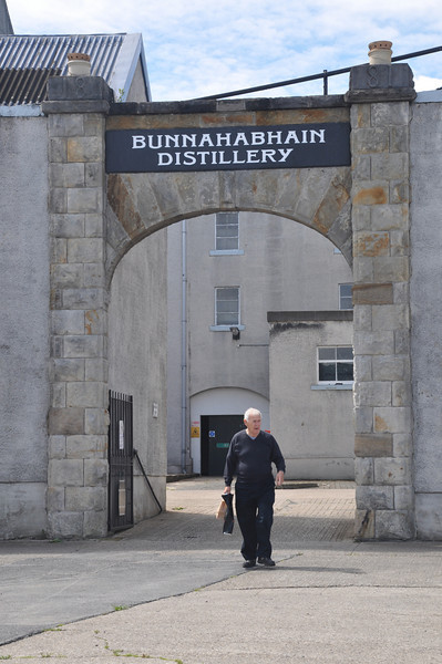 It's at least 50 years since Russ Wilson last walked under this arch at Bunnahabhain Distillery