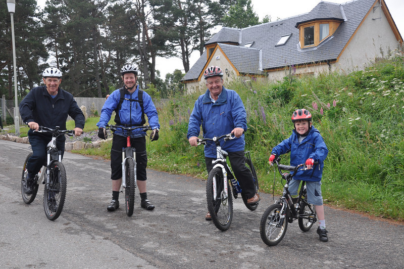 The woods at Carrbridge were the scene for an energetic outing on Jason's bikes