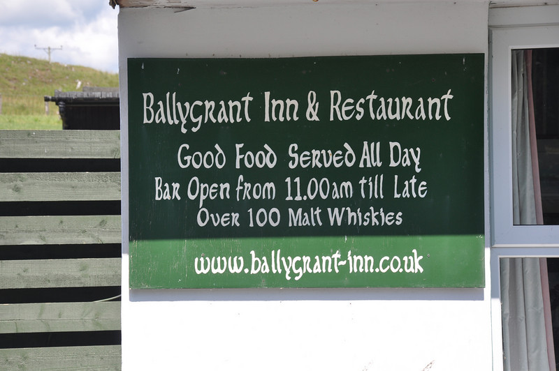 We've never met a more unhappy-faced barman than in the Ballygrant Inn, Islay. Shame he had to serve some customers today