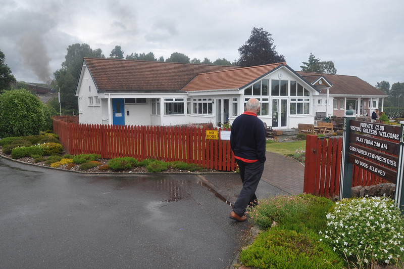 The golf clubhouse at Boat of Garten. Any & Russ golfed while Ian did a steam train ride to Broomhill & Aviemore