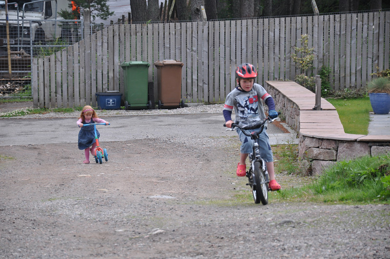 Andy Wilson's grandchildren inherited their dad's love of cycling