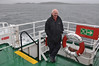 Andy Wilson on Macbrayne's Isle of Arran with the Isle of Gigha in the background