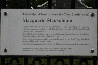 20100608 - 04 Notice on gate at MacQuarie Mausoleum - IMG_2711