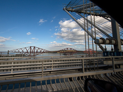 Going over the Forth Bridge to Edinburgh