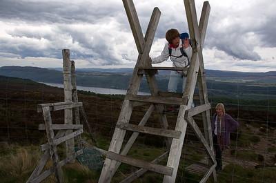 Hill walk above Loch Ness