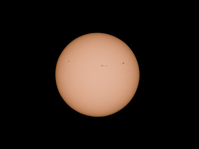 Sun spots taken with G3 and 300mm Takumar. (Rotated to match SDO)
