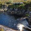 waterfall with jumping salmon, Gleann Mòr