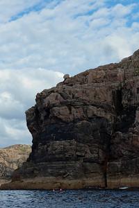 Rock on top of cliff, near Coalas Phabaigh.