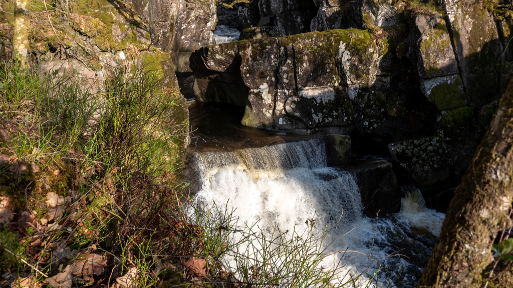 Loch Lomond day trip: Bracklinn Falls Bridge and the waterfall in Callander Scotland