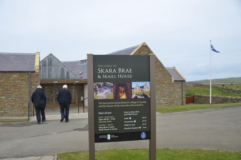 Arriving at Skara Brae. This Visitors' Centre wasn't here the last time Ian visited Skara Brae