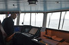 Ian's on the bridge of the Orkney ferry re-living his Lochiel/Islay experiences from the 1950s