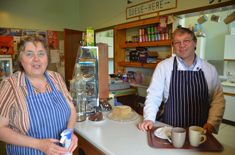 The Cafe, Lyness Museum. This couple run a 'must-visit' cafe within the Scapa Flow Visitors' Centre and Museum. Ask for their bacon buties and home-baking