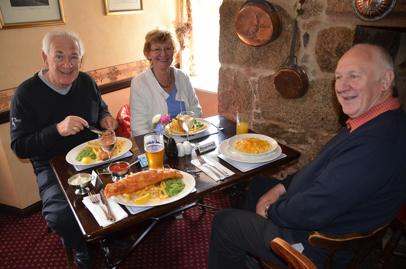 Aboyne and the first of many Haddock & Chips meals