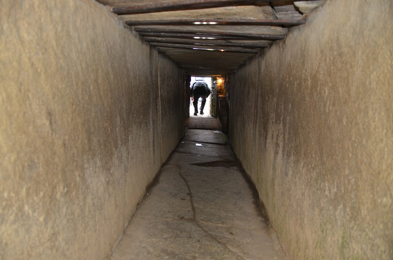 No photos are allowed within the tomb at Maes Howe. This is in the tunnel on the way out