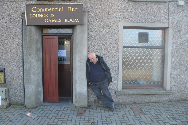 Commercial Bar, Thurso. It was the chat not the beer or the driving that did it for Andy