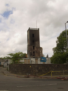 The tower that housed the staircase for the mill, one of the few parts of the building safe enough to be left and a bleak reminder of the indifference of the owners to it's plight
