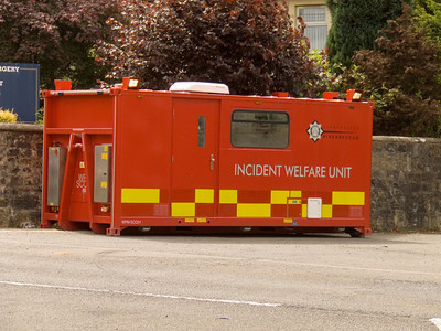 Fire Brigade Incident Welfare Unit at the mill