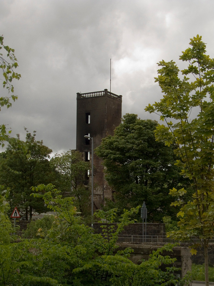The staircase tower at the mill as seen from Johnstone Bridge