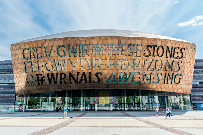 UK-WALES-CARDIFF-CARDIFF BAY-WALES MILLENNIUM CENTRE