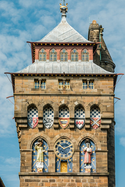 UK-WALES-CARDIFF-CARDIFF CASTLE-CLOCK TOWER