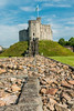 UK-WALES-CARDIFF-CARDIFF CASTLE-NORMAN KEEP-ROMAN WALL [RECONSTRUCTED]